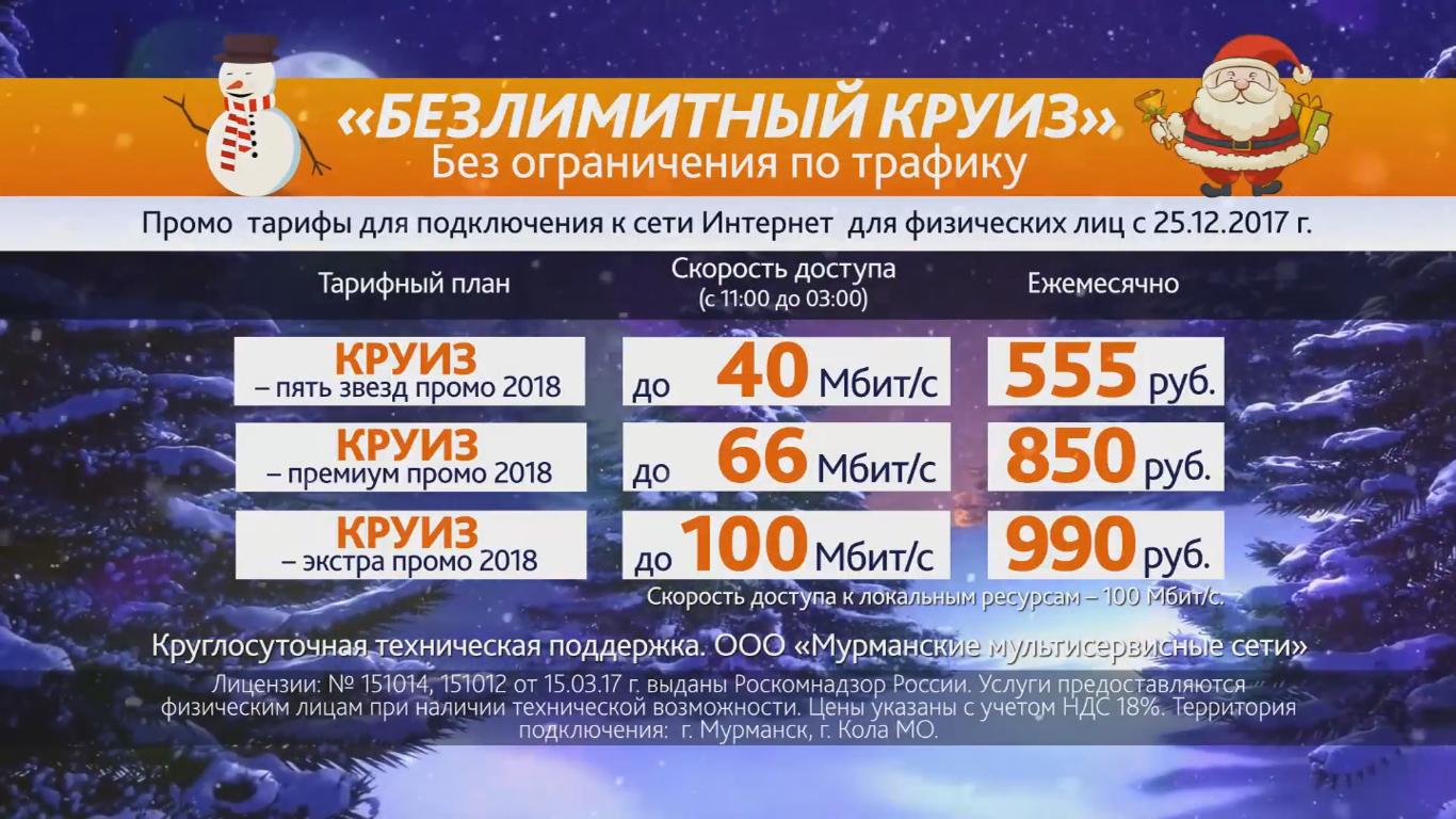 """Мурманские мультисервисные сети запускают """"Удвоение скорости"""" 1"""