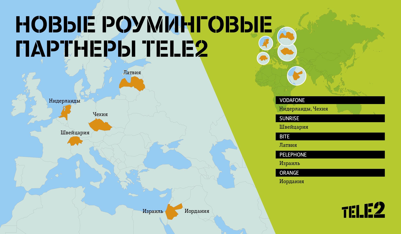 Tele2 нашла новых роуминговых партнеров в Европе и на Ближнем Востоке 1