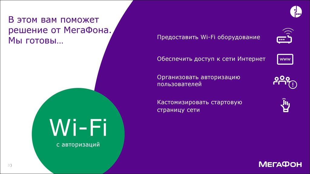 «МегаФон» совместно c Netbynet обновил услугу «Wi-Fi с авторизацией» 1