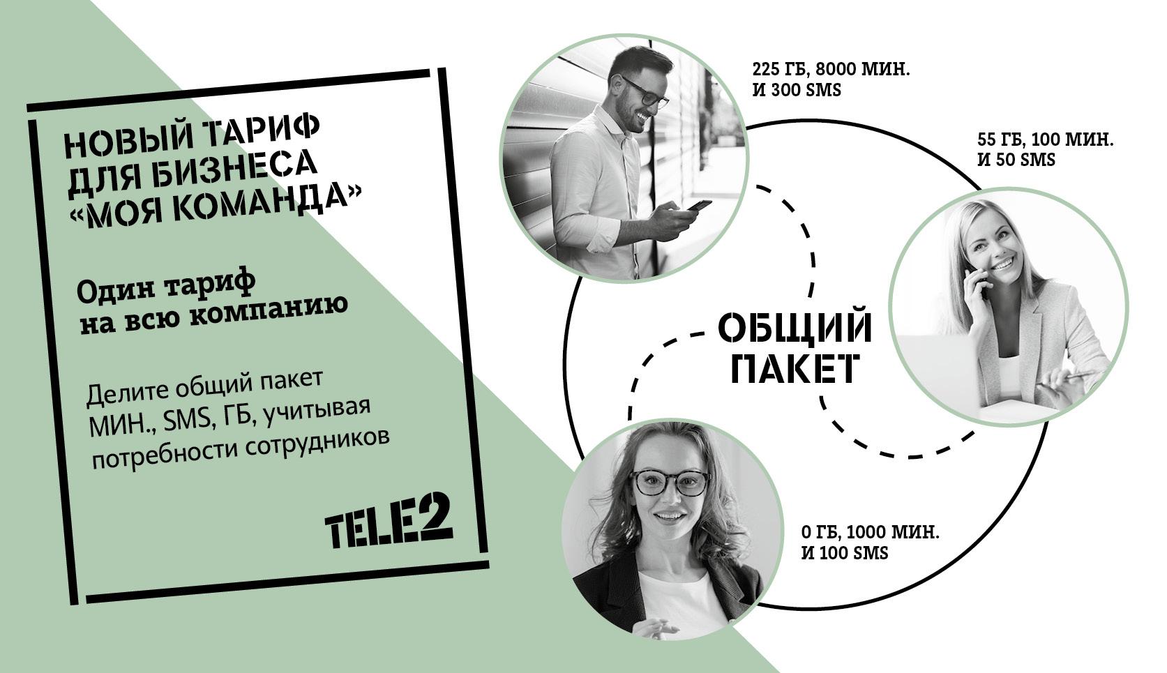 Tele2 запустила общий корпоративный тариф для всей компании 1