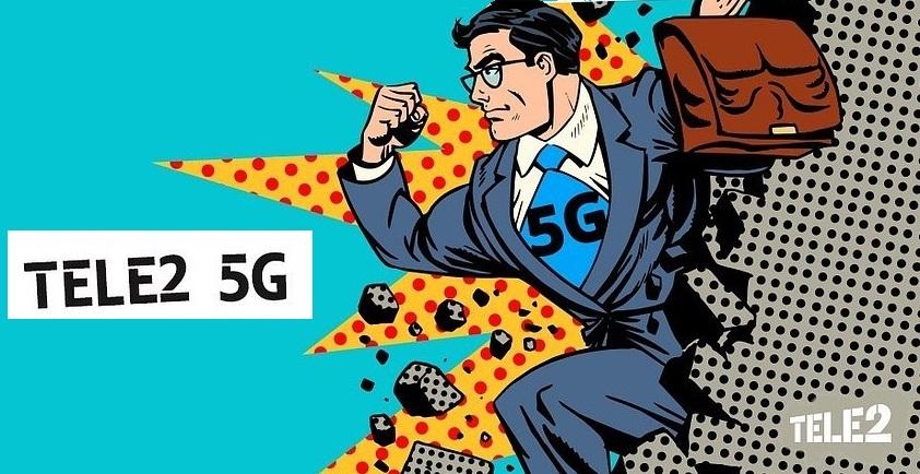 Абонент Tele2 впервые в России позвонил по 5G 1