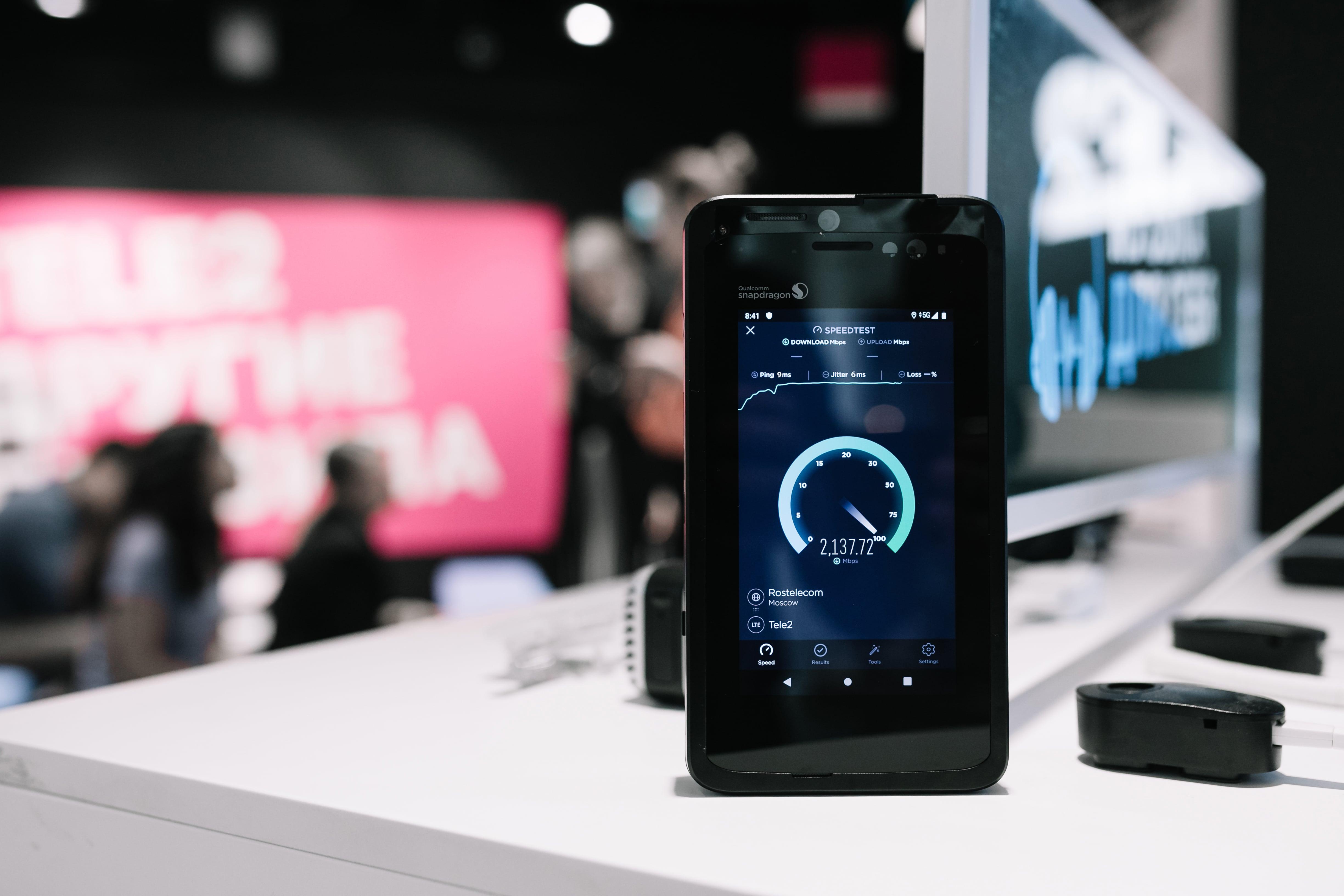 Tele2 получила скорость 2,1 Гбит/c на абонентском устройстве в сети 5G 1