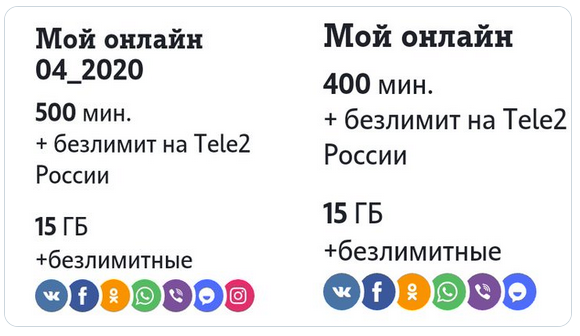 Tele2 запускает новые тарифные планы «Лайт», «Мой разговор», «Мой онлайн» и «Мой онлайн+» 3