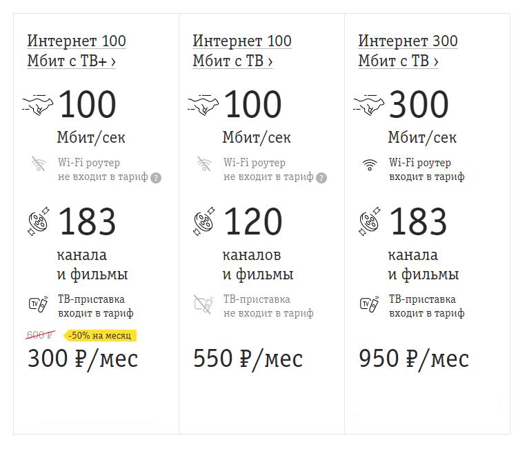 Билайн запустил новые тарифы домашнего интернета и ТВ. 1