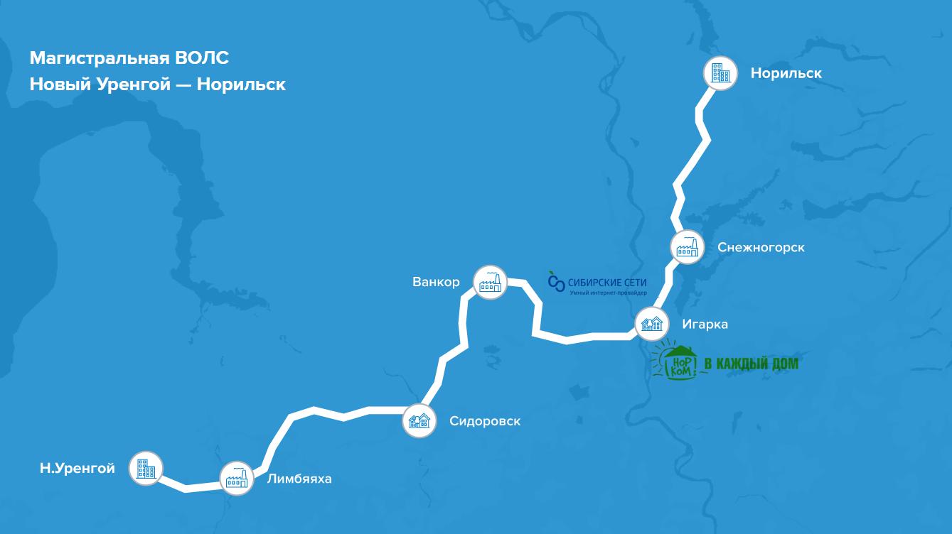 «Сибирские сети» и «Единство» («Норникель») подключили к широкополосному интернету город Игарка 1